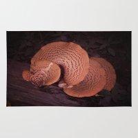 mushroom Area & Throw Rugs featuring Mushroom by cerijones