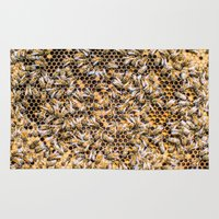 bees Area & Throw Rugs featuring Bees by Tats Paris