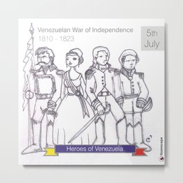 Venezuelan Independence Day Metal Print