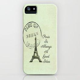 White Paris is Always a Good Idea Audrey Hepburn  iPhone Case
