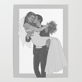 Peter and MJ wedding Poster