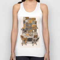 lab Tank Tops featuring Radio Lab by Bony Fingers