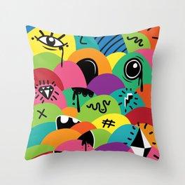 ilovehats Portrait Throw Pillow
