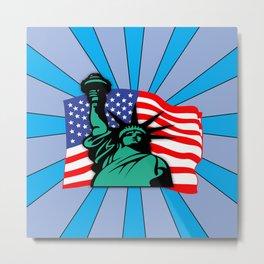 Liberty USA Metal Print