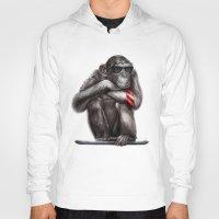 ape Hoodies featuring Genius Ape by beart24