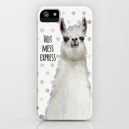 Hot Mess Llama iPhone Case