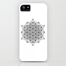 Star tetrahedron, sacred geometry, void theory iPhone Case
