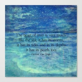 Inspirational ocean sea quote Canvas Print
