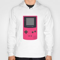 gameboy Hoodies featuring GAMEBOY Color - Pink Version by Cedric S Touati