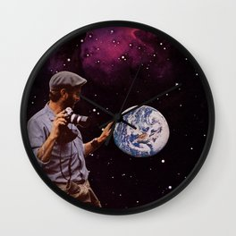world in your hands Wall Clock