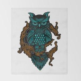 Owl illustration Throw Blanket
