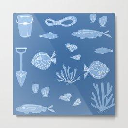 Ocean Pattern Metal Print