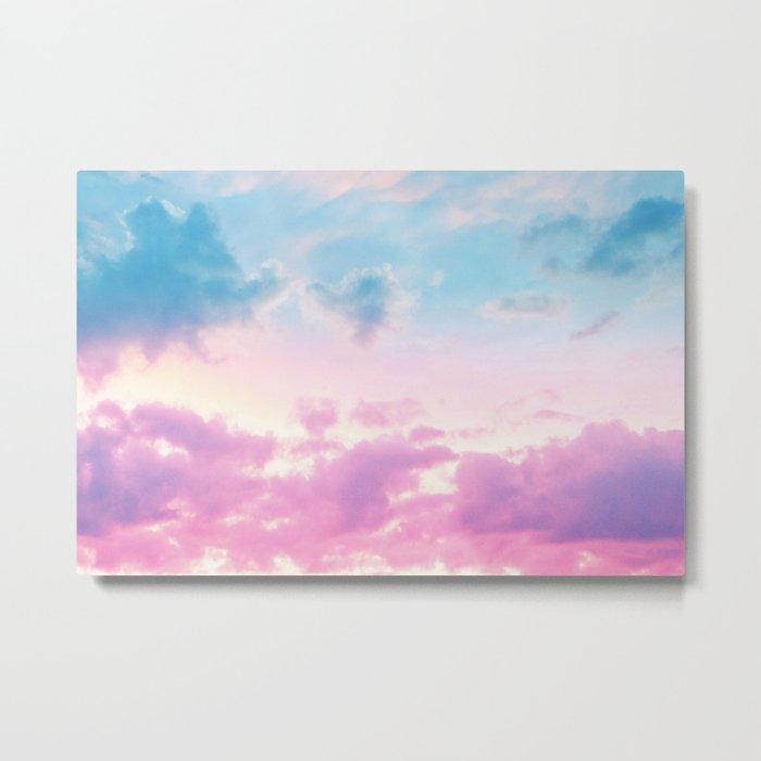 Unicorn Pastel Clouds #3 #decor #art #society6 Metal Print