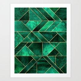 Abstract Nature - Emerald Green Art Print