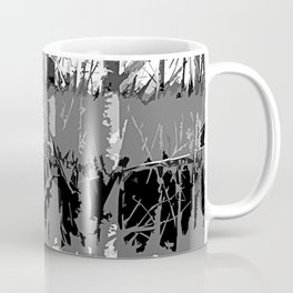 Tropical Abstract Trees in Steely Gray Coffee Mug