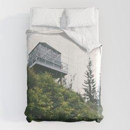 Oregon Fire Lookout Comforters