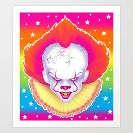 1997 It's That New Scary Clown Art Print