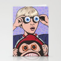 rock and roll Stationery Cards featuring Rock and Roll Martian by turddemon