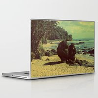 puerto rico Laptop & iPad Skins featuring Puerto Rico Heart along the Beach by shari hochberg