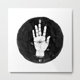 Future Hand Metal Print