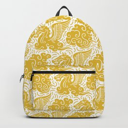 Pegasus Pattern Mustard Yellow Backpack