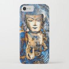 Inner Guidance - Blue Buddha Zen Art iPhone 7 Slim Case