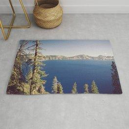 Beautiful Blue Crater Lake Rug