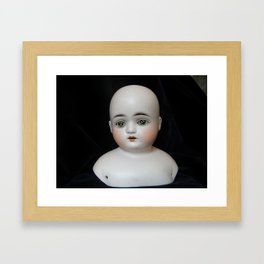 Typewriter Key Creepy Mentalembellisher Doll Framed Art Print