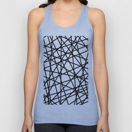 Lazer Dance Black on White Unisex Tank Top