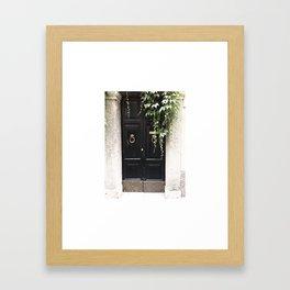 Doors of Rome, Dark wine Framed Art Print