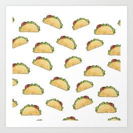 Too many tacos Art Print