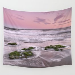 Purple sunset at the beach. Marbella. Wall Tapestry