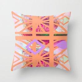 Muster/Pink/brittmarks Throw Pillow