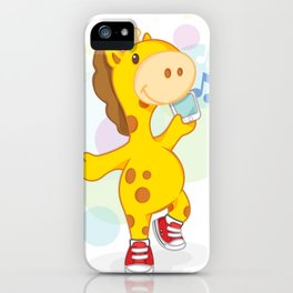 Party like Giraffe wearing converse iPhone Case