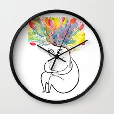 inside and out Wall Clock