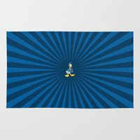 donald duck Area & Throw Rugs featuring Donald - The Duck by applerture
