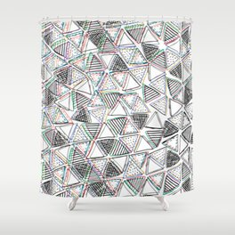 The Blurry Triangles Shower Curtain