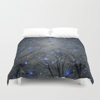 neil gaiman Duvet Covers featuring The Sight of the Stars Makes Me Dream by soaring anchor designs
