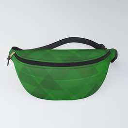 Bright green triangles in intersection and overlay. Fanny Pack