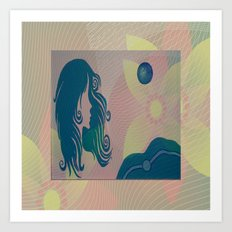 She Moon Art Print