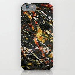 Jackson Pollock Interpretation 2017 iPhone Case