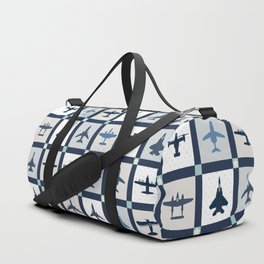 Quilt Squares Air Force Aircraft Duffle Bag