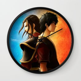 Azula and Zuko Wall Clock
