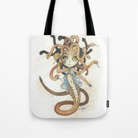 magic the gathering Tote Bags featuring Snake Token - Magic the Gathering - Pharika by Deadlance