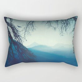 blue mountains morning - vertical tapestry Rectangular Pillow