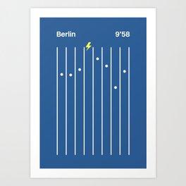 Berlin 9'58 Art Print
