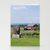 battlefield Stationery Cards featuring Barn on the Battlefield by Scenic Sights by Tara