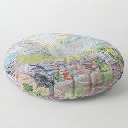 Edvard Munch - The Sun Floor Pillow