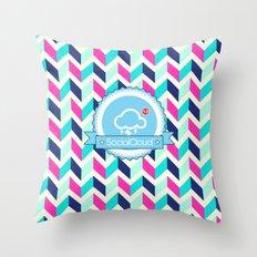 SocialCloud Pattern Throw Pillow