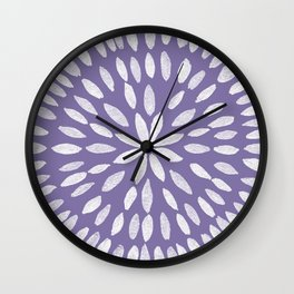 Mandala Flower #4 #UltraViolet #drawing #decor #art #society6 Wall Clock